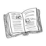 Simple doodle of a book Royalty Free Stock Photo