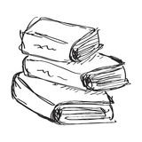 Simple doodle of a book Royalty Free Stock Images