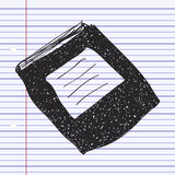 Simple doodle of a book Stock Photos