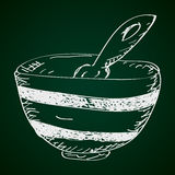 Simple doodle of a bowl Royalty Free Stock Photos