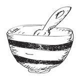 Simple doodle of a bowl Stock Image
