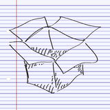 Simple doodle of a box Royalty Free Stock Images