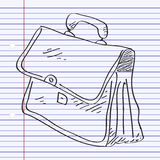 Simple doodle of a briefcase Stock Photo