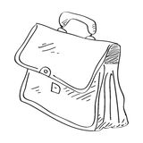Simple doodle of a briefcase Stock Photography