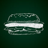 Simple doodle of a burger Royalty Free Stock Photos
