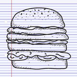 Simple doodle of a burger Royalty Free Stock Photo