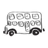 Simple doodle of a bus Royalty Free Stock Photography