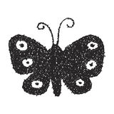 Simple doodle of a butterfly Royalty Free Stock Photography