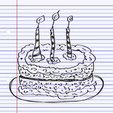 Simple doodle of a cake Stock Photography