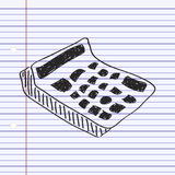 Simple doodle of a calculator Stock Image