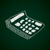 Simple doodle of a calculator Stock Photo
