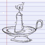 Simple doodle of a candlestick Stock Images