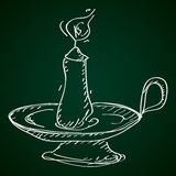 Simple doodle of a candlestick Stock Photo
