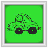 Simple doodle of a car Royalty Free Stock Photography