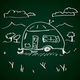 Simple doodle of a caravan Royalty Free Stock Image