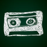 Simple doodle of a cassette Royalty Free Stock Photos