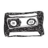 Simple doodle of a cassette Stock Photo