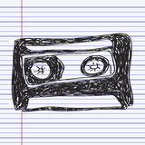 Simple doodle of a cassette Royalty Free Stock Images