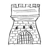 Simple doodle of a castle Royalty Free Stock Photo