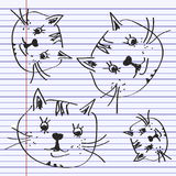 Simple doodle of a cat Royalty Free Stock Photo