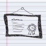 Simple doodle of a certificate Royalty Free Stock Photos