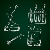 Simple doodle of a chemistry kit Royalty Free Stock Images