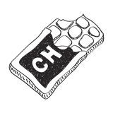 Simple doodle of a chocolate bar Royalty Free Stock Photography