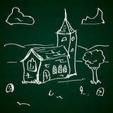 Simple doodle of a church Royalty Free Stock Image