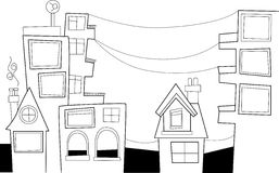 Simple doodle city Royalty Free Stock Images