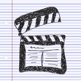 Simple doodle of a clap board. Simple hand drawn doodle of a clap board Royalty Free Stock Photo