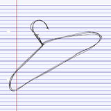 Simple doodle of a coat hanger Stock Photos