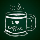 Simple doodle of a coffee mug Stock Image
