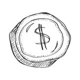 Simple doodle of a dollar Royalty Free Stock Images
