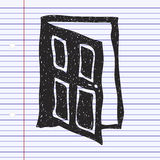 Simple doodle of a door Royalty Free Stock Photography