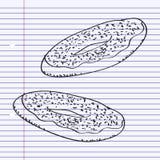 Simple doodle of a doughnut Stock Photo
