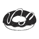 Simple doodle of a doughnut Royalty Free Stock Photo