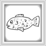 Simple doodle of a fish Stock Photography
