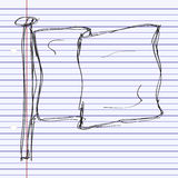 Simple doodle of a flag Royalty Free Stock Photo