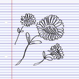 Simple doodle of a flower Stock Image