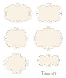 Simple doodle frames. Set of simple doodle frames Royalty Free Stock Photo