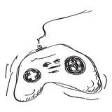 Simple doodle of a game controller Stock Photography