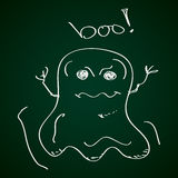 Simple doodle of a ghost Royalty Free Stock Photo