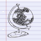 Simple doodle of a globe Stock Image