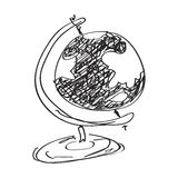 Simple doodle of a globe Stock Photography