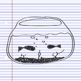 Simple doodle of a goldfish bowl Royalty Free Stock Photos