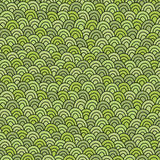Simple doodle green pattern. Abstract grass seamless background. Stock Photos