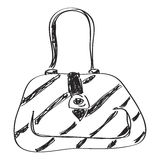 Simple doodle of a handbag Stock Image