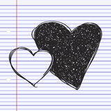 Simple doodle of a heart Royalty Free Stock Image
