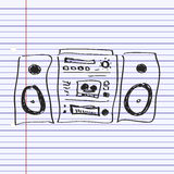 Simple doodle of a hifi Royalty Free Stock Photo