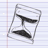 Simple doodle of an hourglass Stock Photos